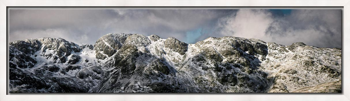 Crinkle Crags Winter Panorama - Modern Print