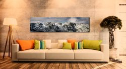 Crinkle Crags Winter Panorama - Print Aluminium Backing With Acrylic Glazing on Wall