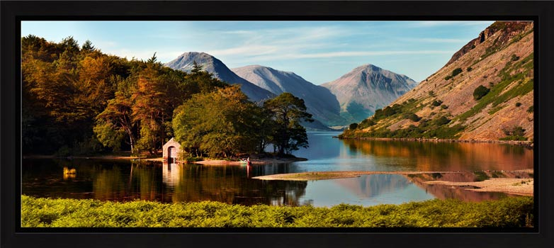 Wast Water Boathouse - Modern Print