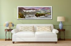 Grasmere Autumn Mists - White Maple floater frame with acrylic glazing on Wall