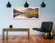 Bright Light on Buttermere - White Maple floater frame with acrylic glazing on Wall