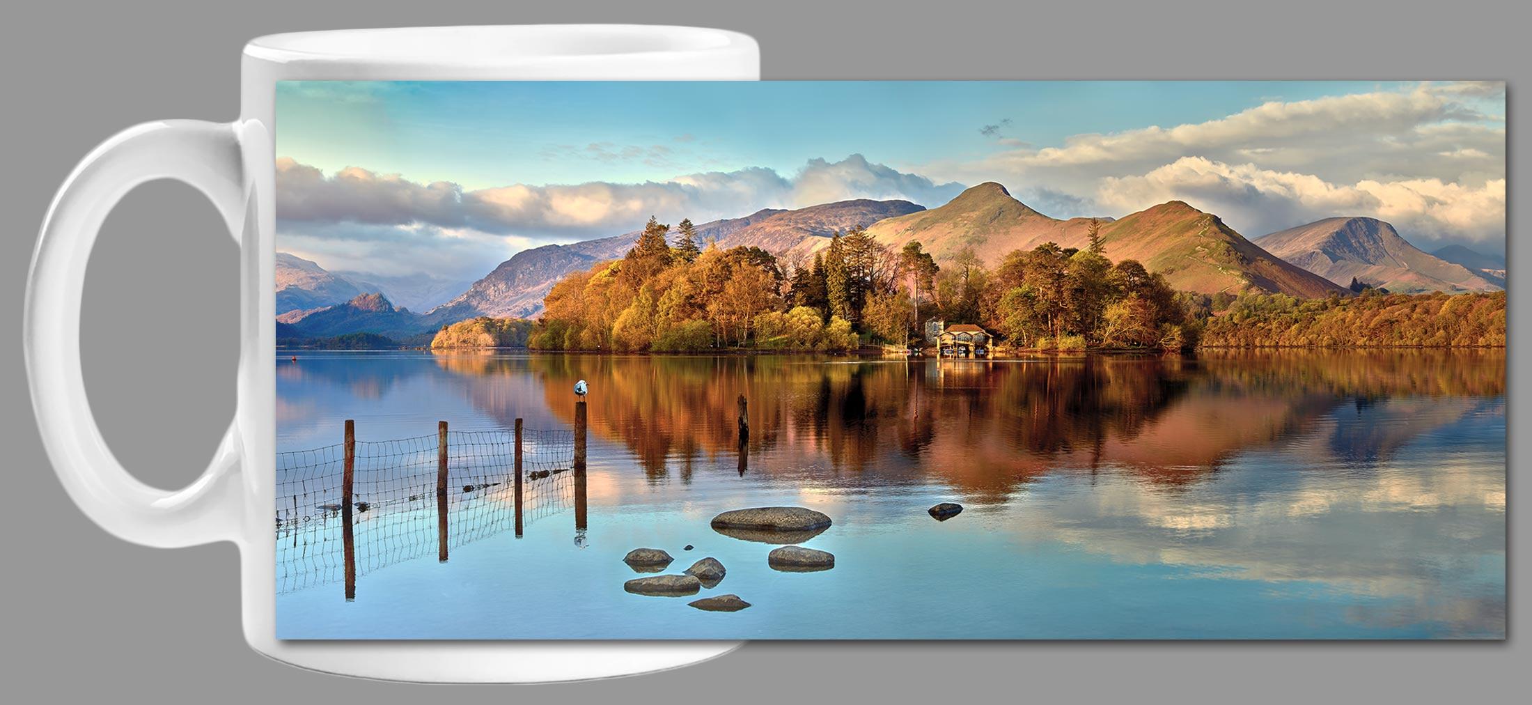 Derwent Water Panorama - Mug