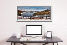 Grasmere Winter Panorama - White Maple floater frame with acrylic glazing on Wall
