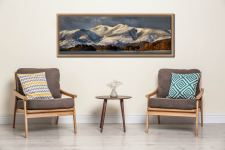 Skiddaw Winter Panorama - Oak floater frame with acrylic glazing on Wall