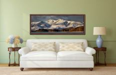Skiddaw Winter Panorama - Walnut floater frame with acrylic glazing on Wall