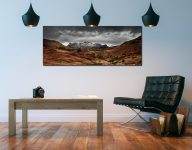 The Langdale Pikes Winter Panorama - Print Aluminium Backing With Acrylic Glazing on Wall