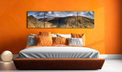 Dow Crag and Old Man Coniston - 3 Panel Wide Centre Canvas on Wall