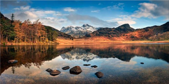 Spring Sunshine on Blea Tarn - Canvas Print