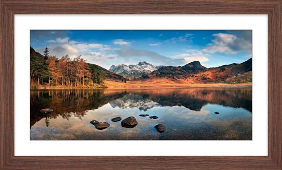 Spring Sunshine on Blea Tarn - Framed Print with Mount
