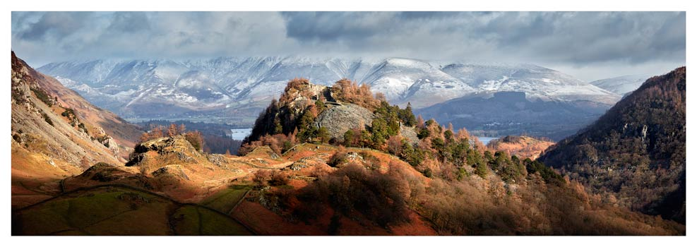 Castle Crag and Snowy Skiddaw - Lake District Print