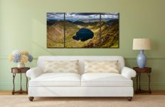 Red Tarn - 3 Panel Wide Centre Canvas on Wall