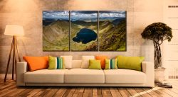 Red Tarn - 3 Panel Canvas on Wall