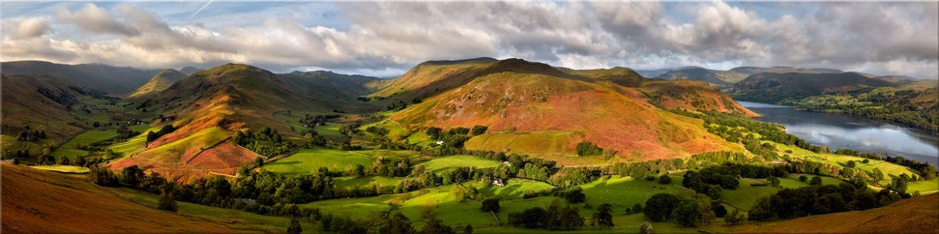 Hallin Fell Panorama - Canvas Prints