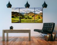 Green Fields of Martindale - 3 Panel Wide Centre Canvas on Wall