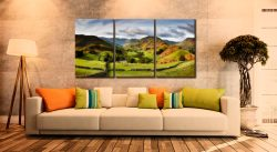 Green Fields of Martindale - 3 Panel Canvas on Wall