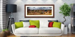Tarn Hows Winter Colours - Framed Print with Mount on Wall