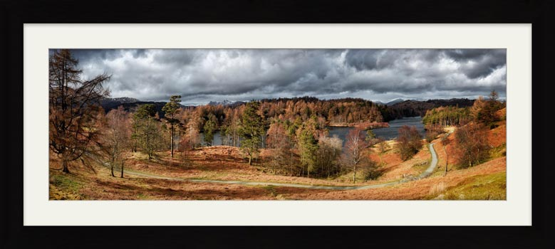 Tarn Hows Winter Colours - Framed Print with Mount
