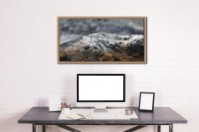 Coniston Old Man Summit - Oak floater frame with acrylic glazing on Wall