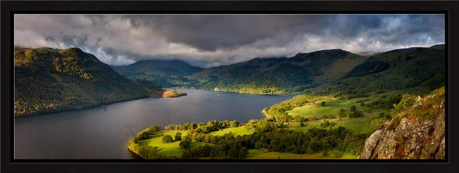 Ullswater Mountains Panorama - Modern Print