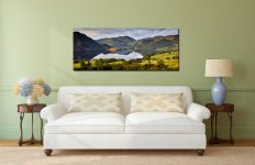 Ullswater Morning Reflections - Print Aluminium Backing With Acrylic Glazing on Wall