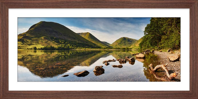 Brothers Water Reflections - Framed Print