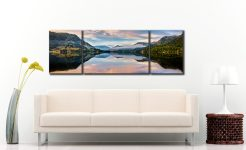 Ullswater Calmness - 3 Panel Wide Mid Canvas on Wall