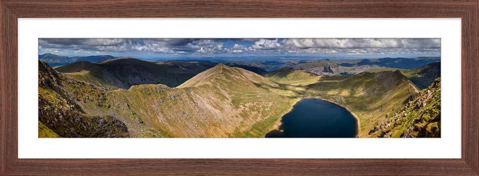 Swirral Edge to Striding Edge - Framed Print