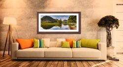 Brothers Water Green Day - Framed Print with Mount on Wall