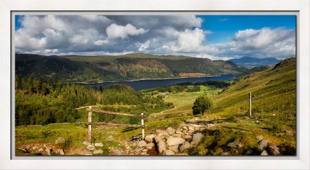 Thirlmere From Path to Helvellyn - Modern Print