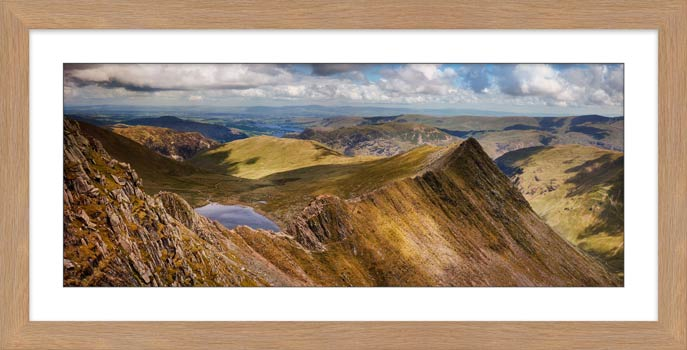 Striding Edge Panorama - Framed Print with Mount