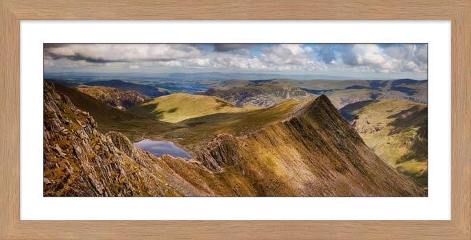 Striding Edge Panorama - Framed Print
