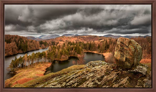 Grey Skies Over Tarn Hows - Modern Print
