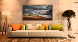 Winter Colours of Wast Water - Oak floater frame with acrylic glazing on Wall