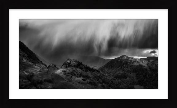 The Rains are a Coming - Black White Framed Print