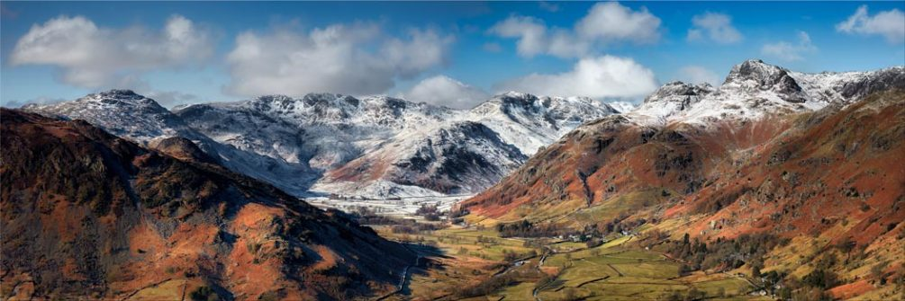 Great Langdale Valley in Winter - Canvas Print