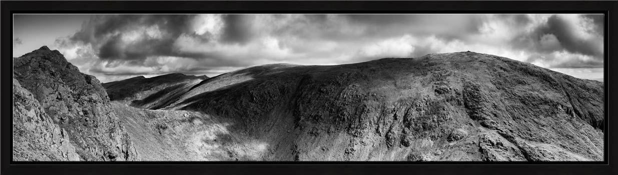 Dow Crag and Old Man Coniston - Black White Modern Print
