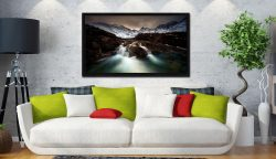 The Dark Fairy Pools - Black oak floater frame with acrylic glazing on Wall