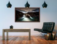 The Dark Fairy Pools - Walnut floater frame with acrylic glazing on Wall