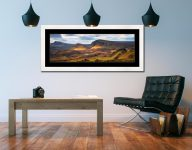 Cleat and Dun Dubh Quiraing - Framed Print with Mount on Wall