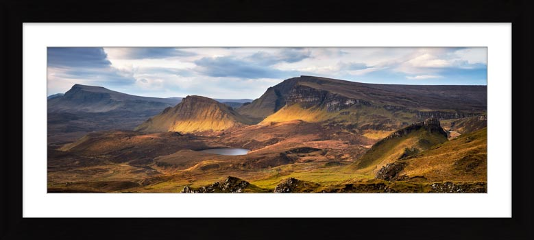 Cleat and Dun Dubh Quiraing - Framed Print