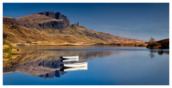 Peaceful Morning at Loch Fada - Isle of Skye Print