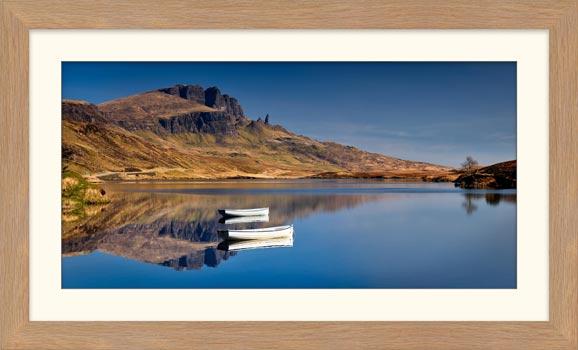 Peaceful Morning at Loch Fada - Framed Print