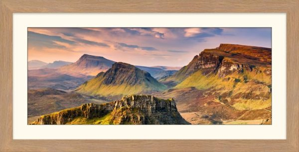 Trotternish Mountains Isle of Skye - Framed Print with Mount