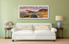 Trotternish Mountains Isle of Skye - White Maple floater frame with acrylic glazing on Wall