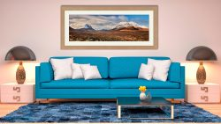 Cuillin Mountains from Glen Sligachan - Framed Print with Mount on Wall