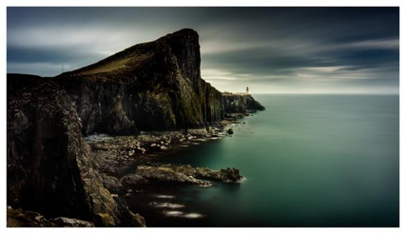 Neist Point Lighthouse Green - Isle of Skye Print