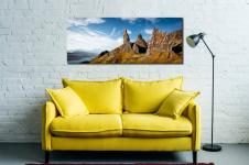 The Old Man of Storr and Needle Rock - Print Aluminium Backing With Acrylic Glazing on Wall