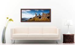 The Old Man of Storr and Needle Rock - Walnut floater frame with acrylic glazing on Wall