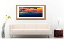 Dawn Over Mountains of Wester Ross - Framed Print with Mount on Wall