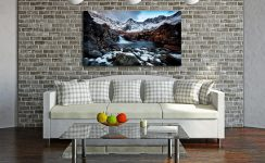 Spring Snow Fairy Pools - Print Aluminium Backing With Acrylic Glazing on Wall